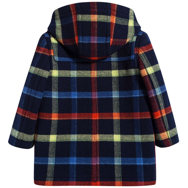 Baby Boys Navy Ip Check Wool Coat