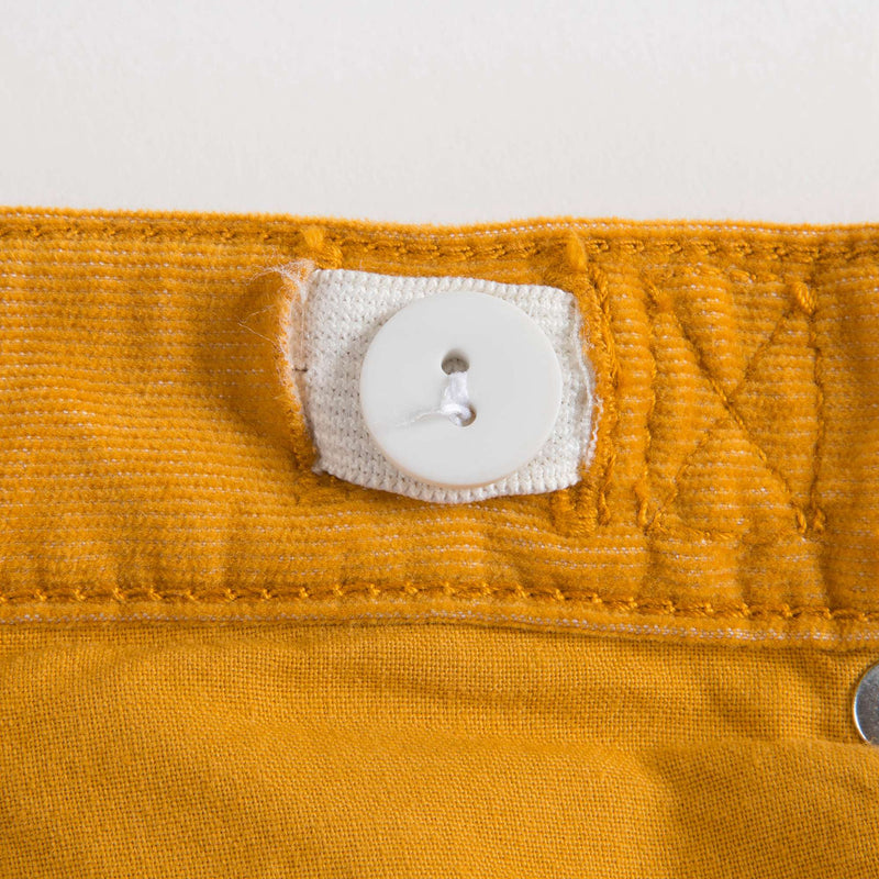 Girls Yellow Cotton Trousers