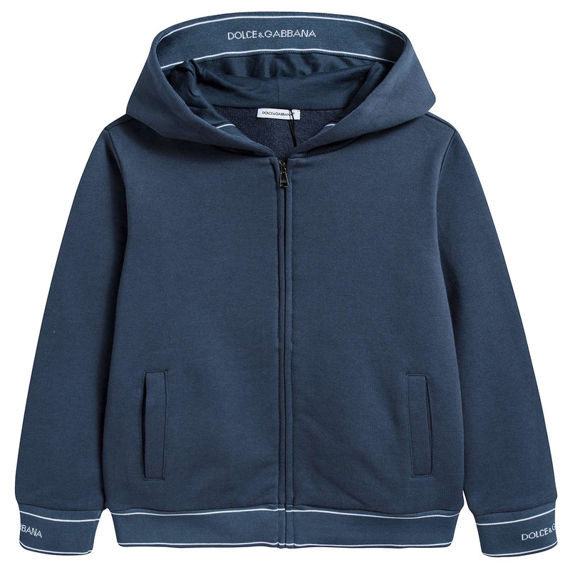 Boys Navy Blue Cotton Cardigan