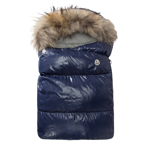 Baby Blue Down Filled Snowbag With Fur