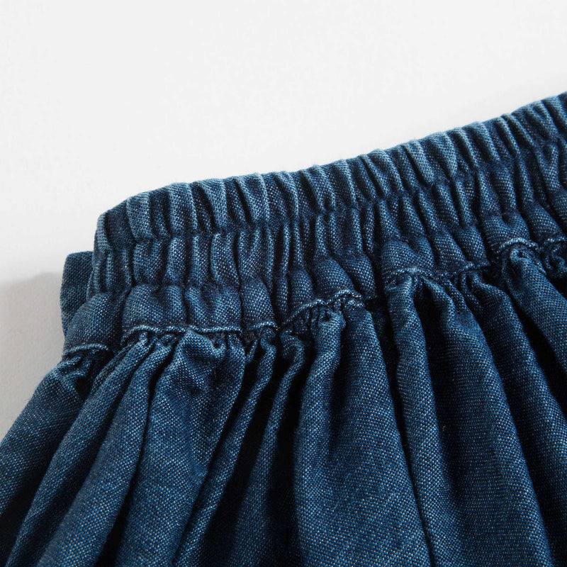 Girls Denim Blue Cotton Skirt