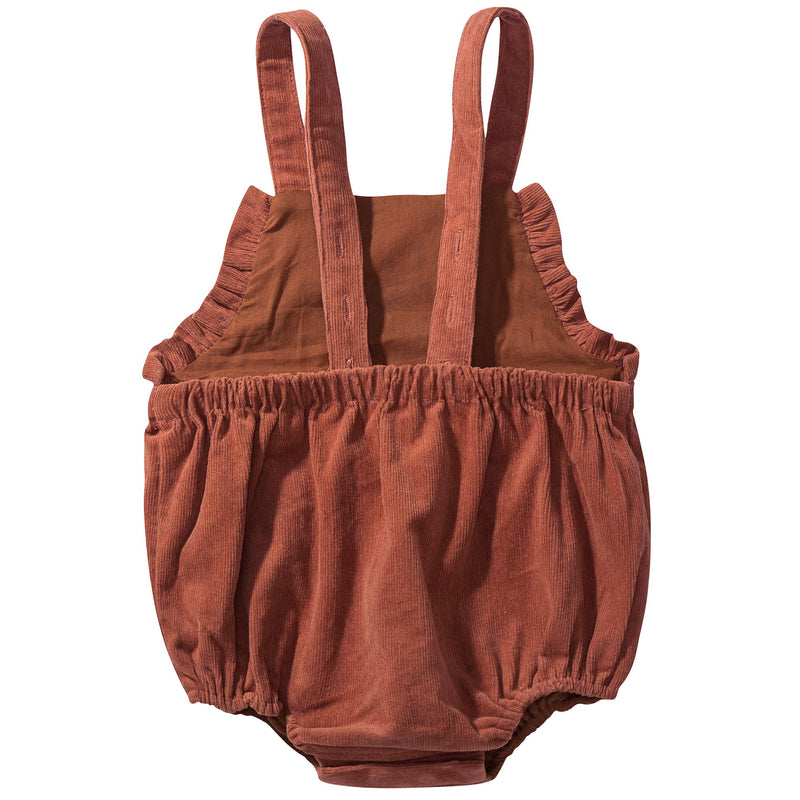 Baby Rust Red Cotton Overalls