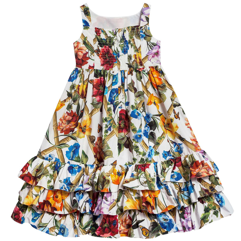 Girls  Climbing  Flowers  Cotton   Dress