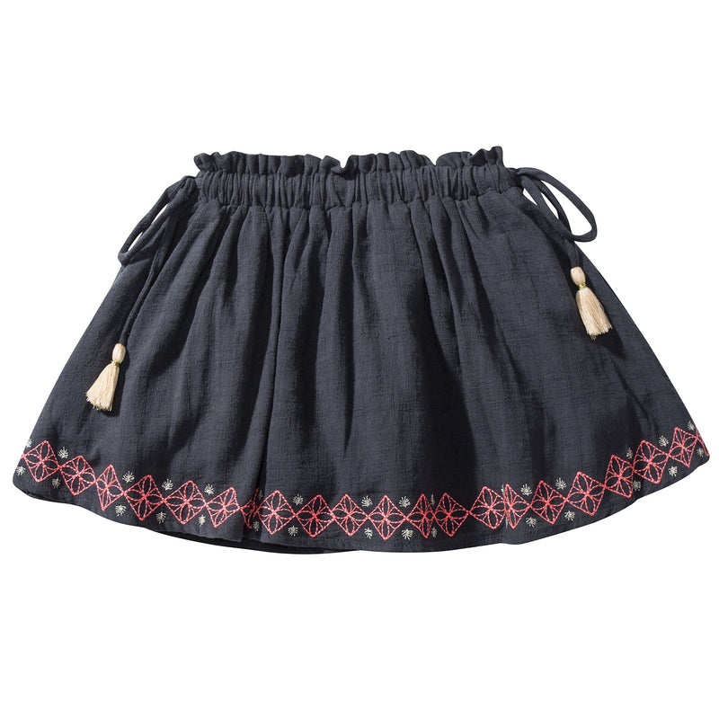 "Girls Blue ""Chechouan"" Cotton  Skirt"
