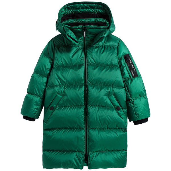 Boys Dark Pigment Green Coat