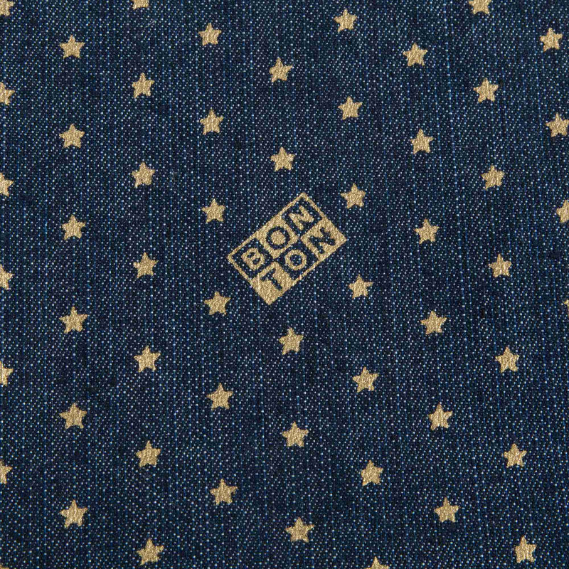Girls Denim Blue Star Printed Bag