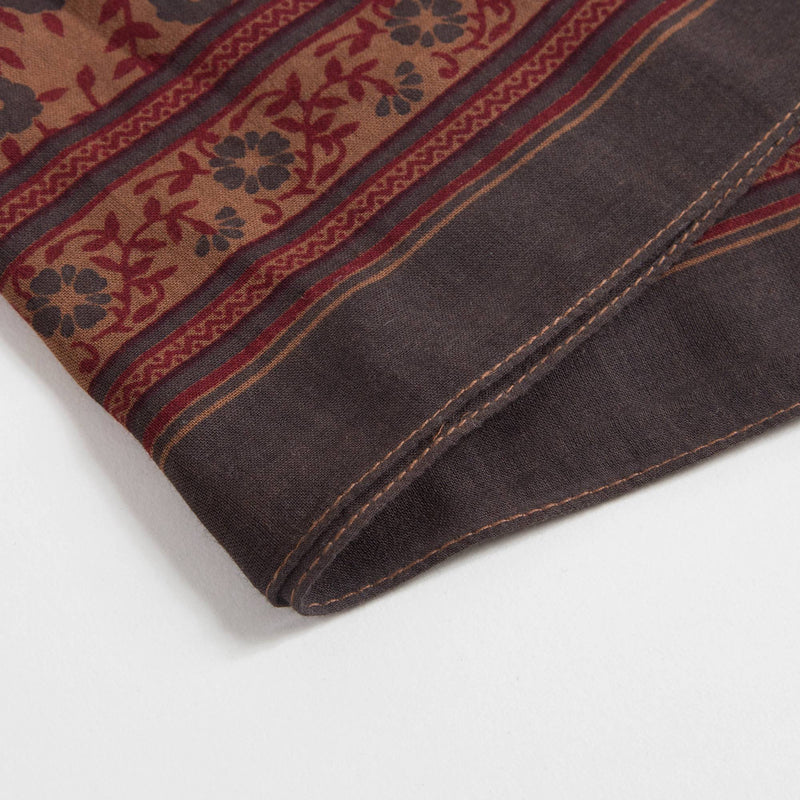 Girls Chestnut Cotton Square Scarf