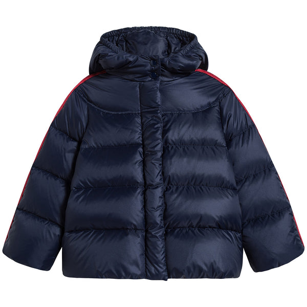 Baby Girls Blue Padded Down Coat