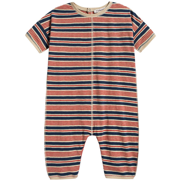 Baby Red Stripe Cotton Babysuit
