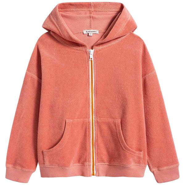 Girls Coral Cotton Jacket