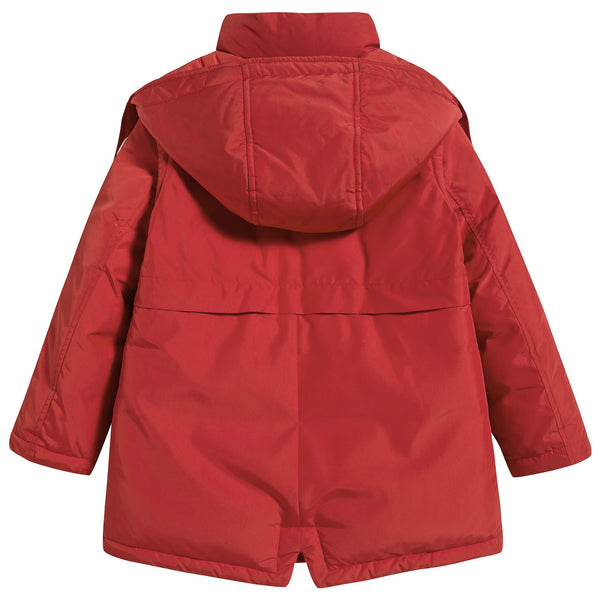 "Girls Red ""SEWEN"" Padded Down Coat"