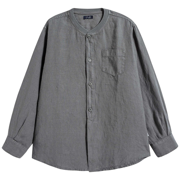 Boys & Girls Grey Linen Shirt