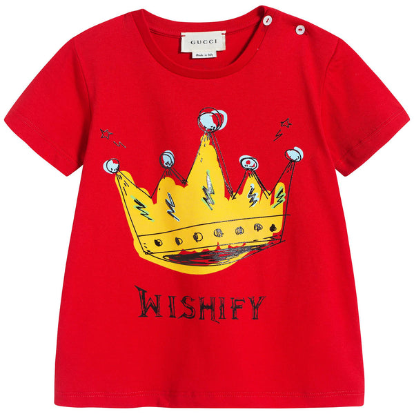 Baby Girls Red & Yellow Cotton T-shirt