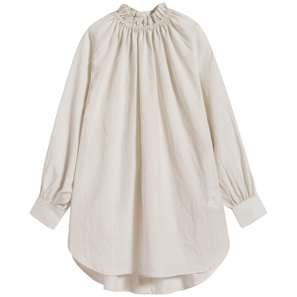 Girls White Reversible Frill Shirt