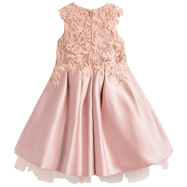 Girls Peachy Coral 'Romance with Titania' Dress