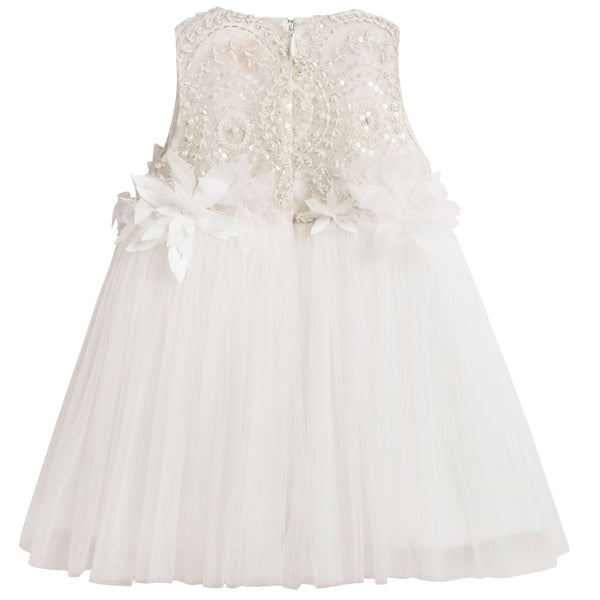 Baby Girls White 'Winter love' Dress