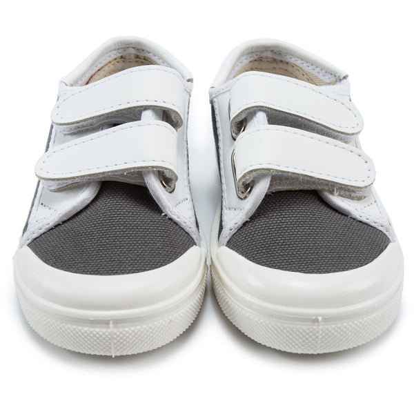 Baby Boys Dark Grey & White Shoes