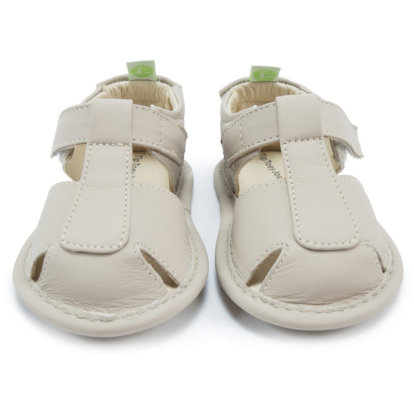Baby Boys Gray Leather Sandals