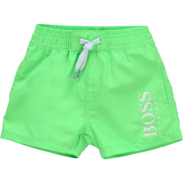 Baby Boys Green Logo Swim Shorts