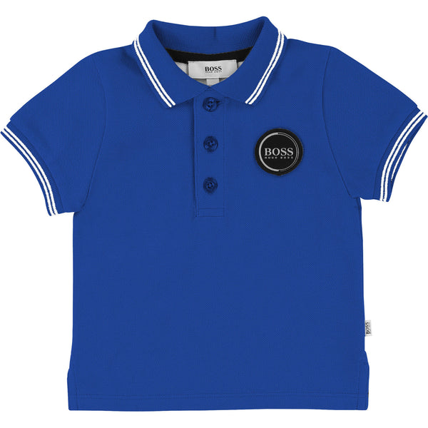 Baby Boys Blue Royal Cotton Polo Shirt