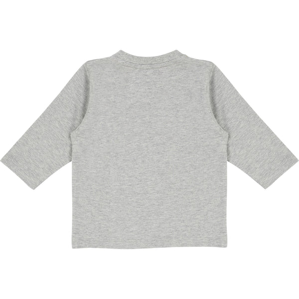 Baby Boys Grey Chine Cotton T-shirt