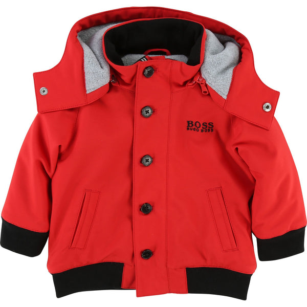Baby Boys Pop Red Coat