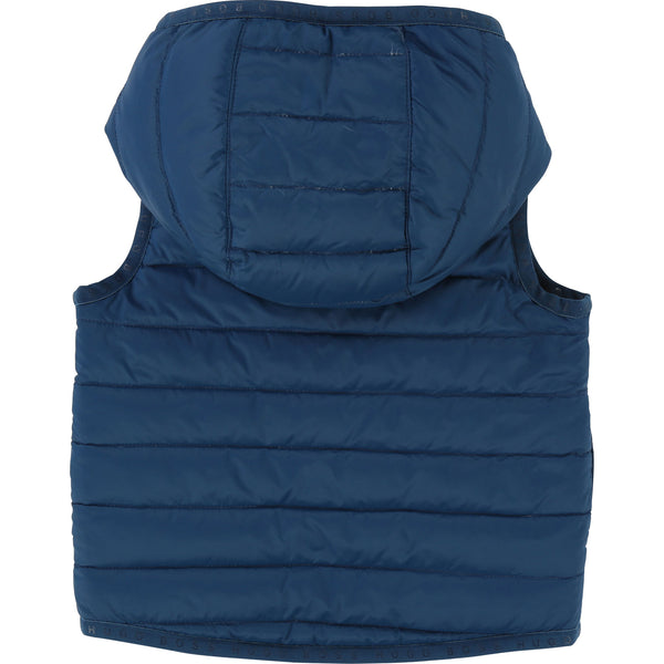 Baby Boys Blue & Yellow Reversibie Vest