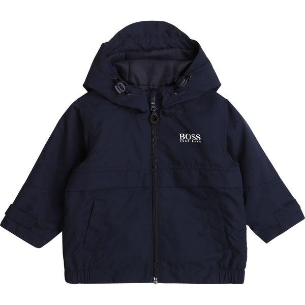 Baby Boys Dark Navy Logo Jacket