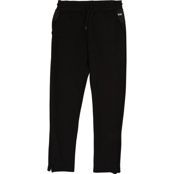 Boys Black Cotton Trousers