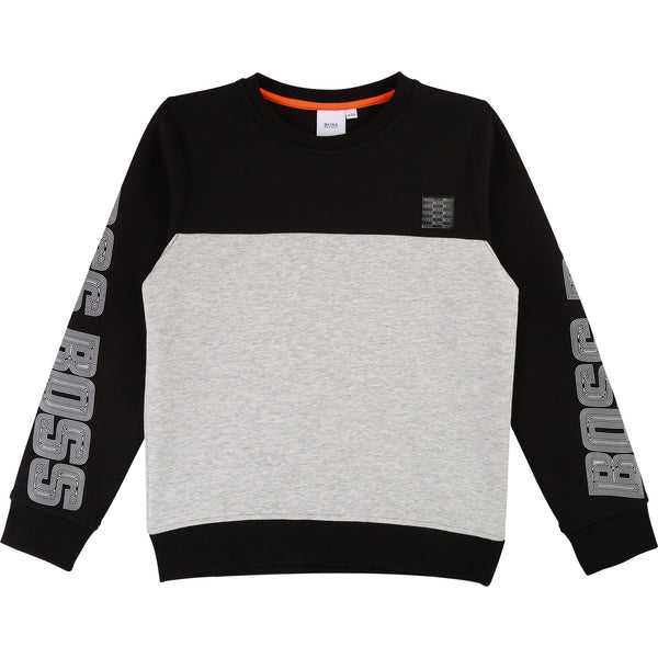 Boys Grey Cotton Sweater