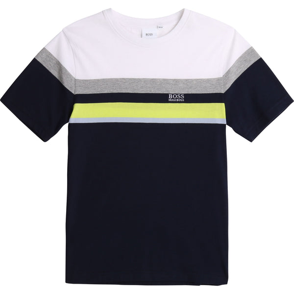 Boys Dark Navy Cotton T-Shirt