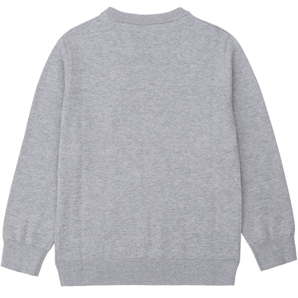 Boys Grey Logo Cotton Jumper