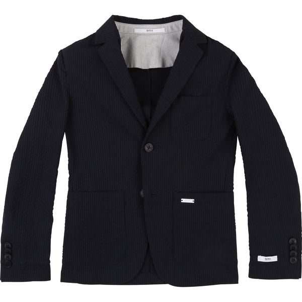 Boys Navy Coat