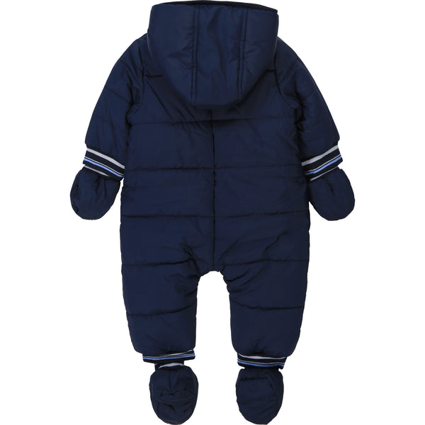 Baby Boys Dark Navy Padded Babysuit