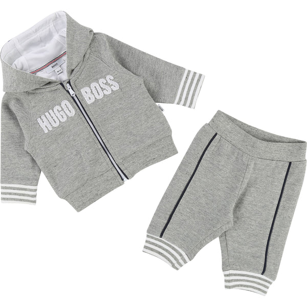 Baby Boys Grey Chine Cotton Set