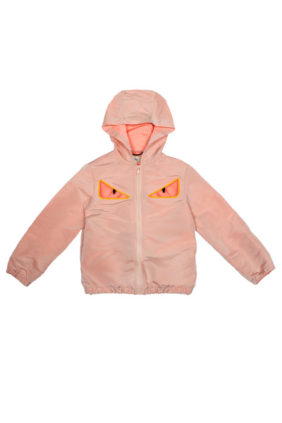 Girls Light Pink Eyes Jacket