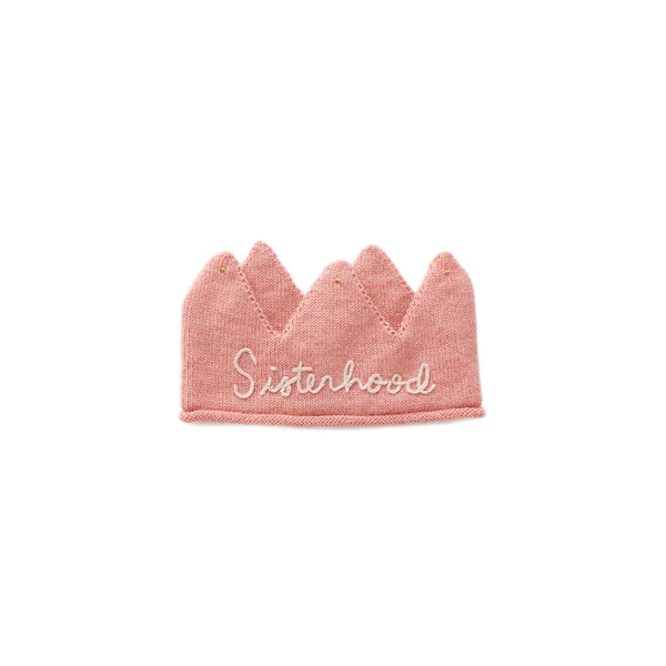 Girls Pink Embroidered Alpaca Crown