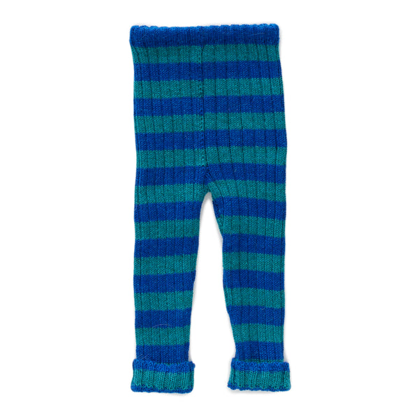 Girls Blue Striped Alpaca Trousers