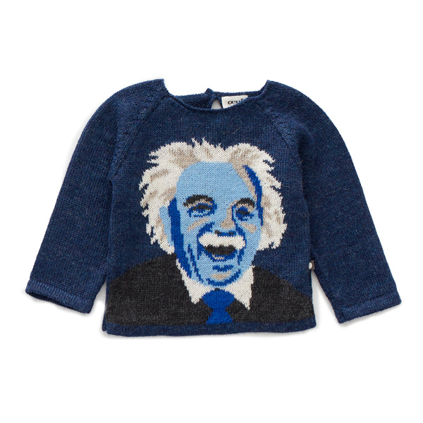 Boys Blue Raglan Alpaca Sweater