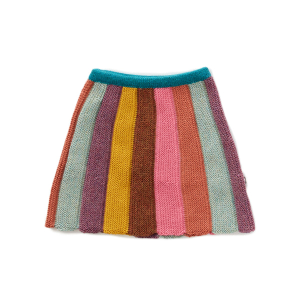 Girls Multicolor Alpaca Skirt