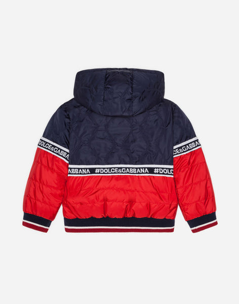 Boys & Girls Blue & Red Down Jacket