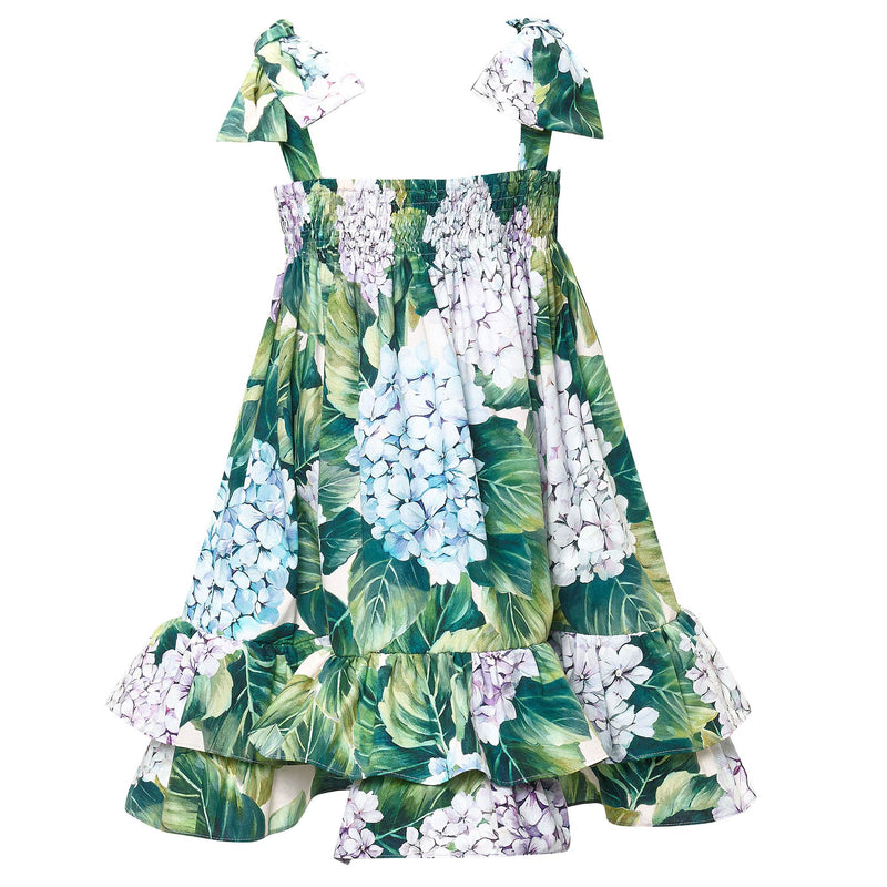 Girls Green 'Taormina' Dress With Bow