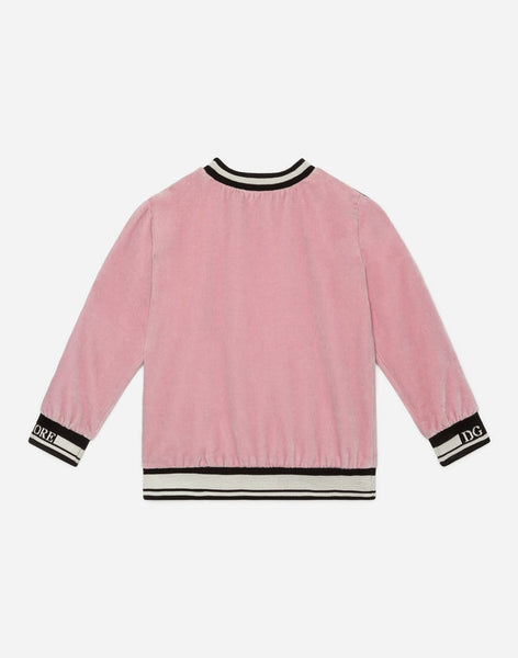 Girls Light Pill Rose Cotton Sweatshirt