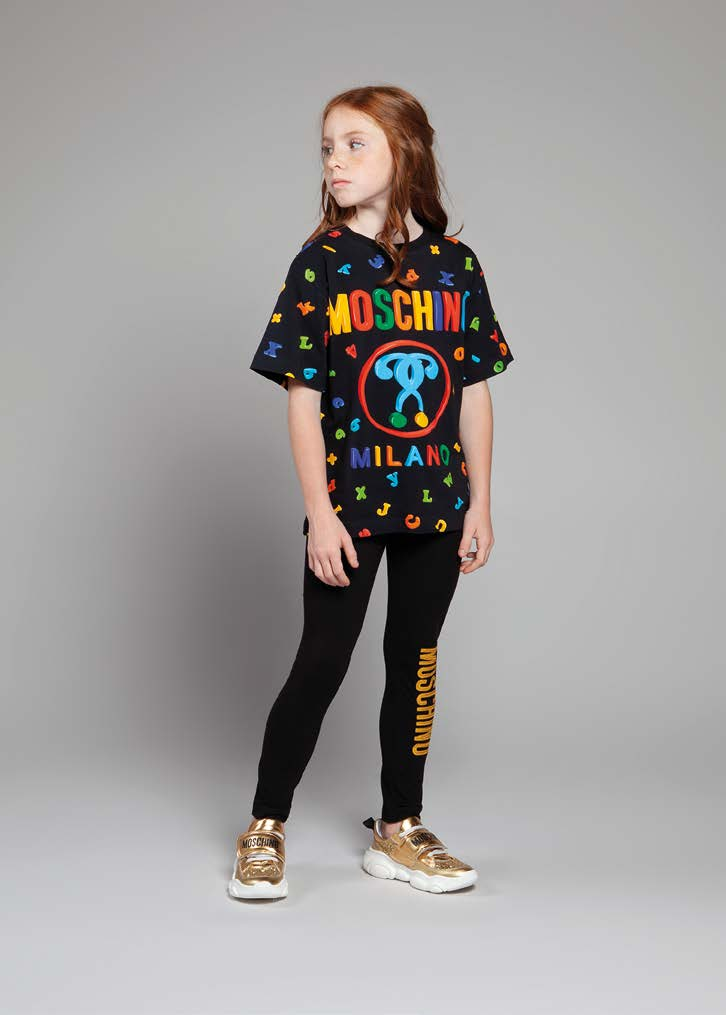 Boys & Girls Black Cotton T-shirt