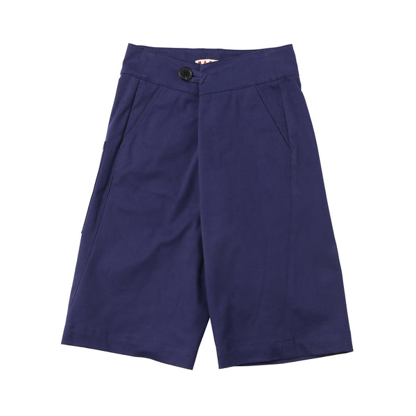 Girls Costal Blue Cotton Shorts