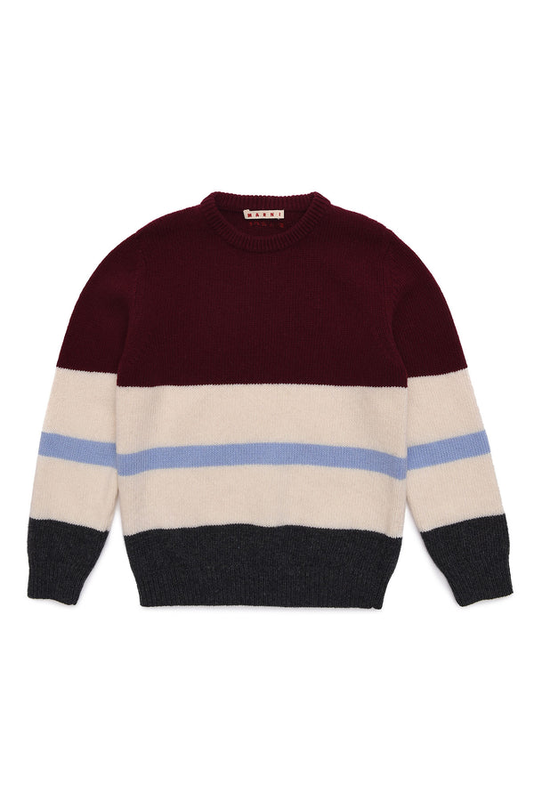 Boys & Girls Wine Red Wool Sweater