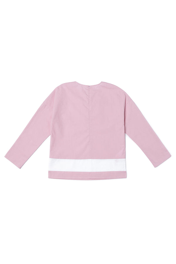 Girls Mauve Cotton Top