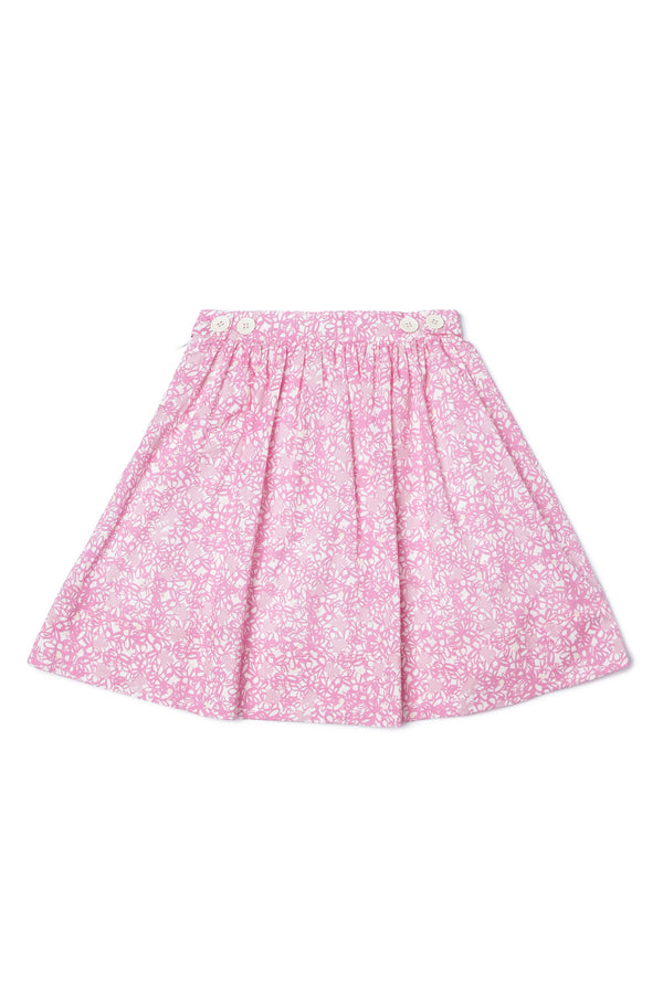Girls Pink Cotton Skirt
