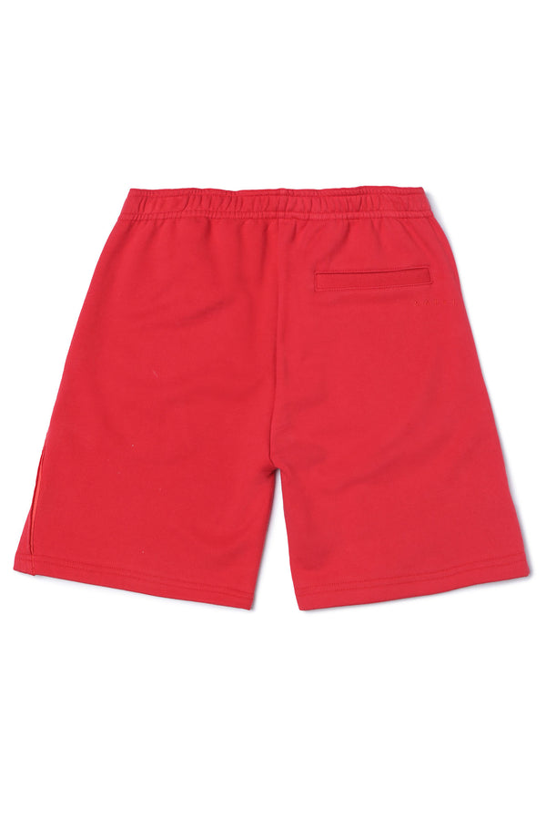 Boys Red Cotton Shorts