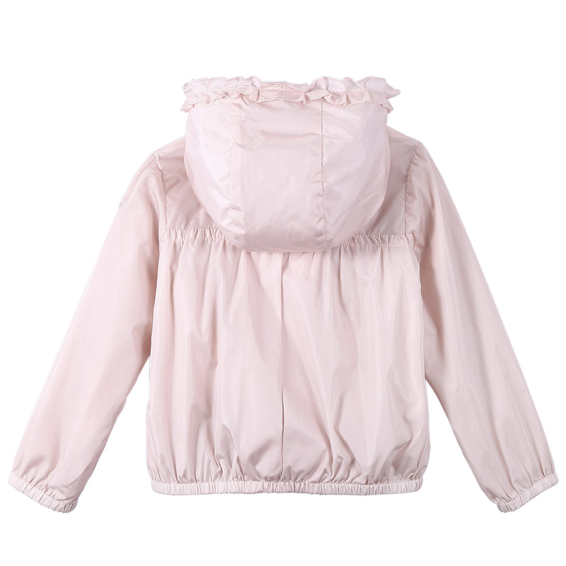 Baby Girls Bright Pink Frilly Hooded 'Darma' Zip-Up Tops - CÉMAROSE | Children's Fashion Store - 2